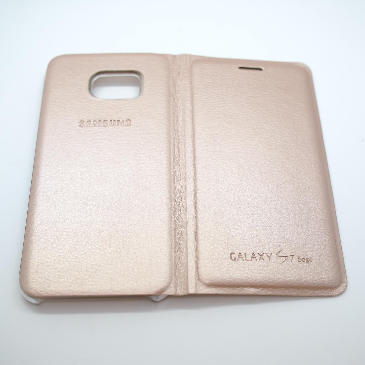 Чехлы для Samsung Galaxy S7 Book-case Edge G935 gold Для телефона