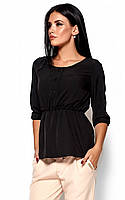S, M, L / Стильная женская блузка Orlanda, черный