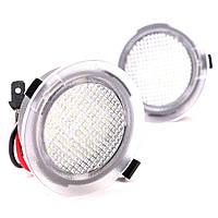 Штатная LED подсветка зеркал  Ford Mondeo 5 MK5