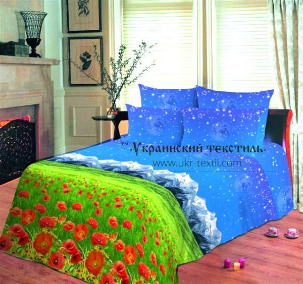Комплект постельного белья  Ночное небо и цветы