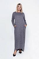 Модное стильное длинное платье 39808 (50–56р) в расцветках