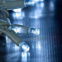 Уличная Гирлянда светодиодная нить, 20 м, 200 led белый каучуковый провод - цвет белый холодный