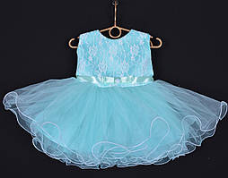 """Платье нарядное детское """"Лавандочка"""" без оборки до 1 года. Мятное. Купить оптом и в розницу"""