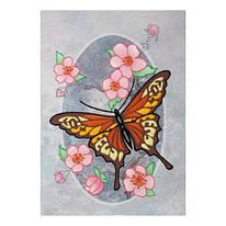 Набор для вышивания нитками мулине и бисером, картина Бабочка Монарх, ВДВ, М-0823, 029768