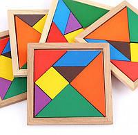 """Игра-головоломка """"Танграм"""" 12 х 12 см. Цветная."""