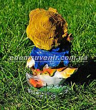 Садовая фигура Утенок дровосек, фото 3