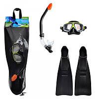 Набор для плавания 55959 (6шт) маска трубка ласты  спортивная серия