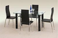 Стеклянный стол Halmar Gavin Black