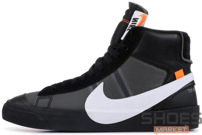 Женские кроссовки Nike X Off White Blazer Studio MID Black AA3832-001, Найк блейзер