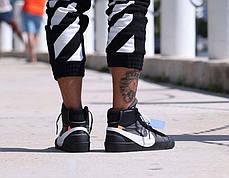 Женские кроссовки Nike X Off White Blazer Studio MID Black AA3832-001, Найк блейзер, фото 3