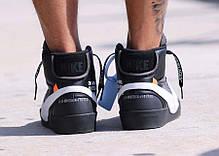 Женские кроссовки Nike X Off White Blazer Studio MID Black AA3832-001, Найк блейзер, фото 2