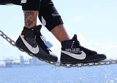 Мужские кроссовки Nike X Off White Blazer Studio MID Black AA3832-001, Найк блейзер, фото 2