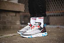 Мужские кроссовки Nike React Element 87 Dark Grey Photo Blue AQ1090-003, Найк Реакт Елемент, фото 3