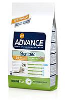 Advance Cat Sterilized корм для стерилизованных кошек с ячменем и индейкой