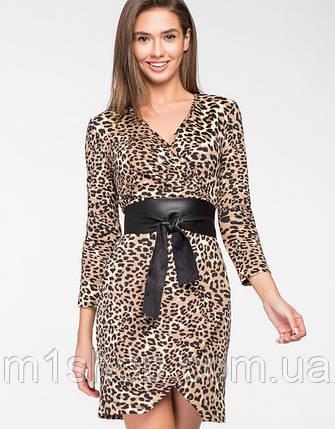 Женское леопардовое платье с имитацией запаха(5117 ie), фото 2