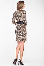 Женское леопардовое платье с имитацией запаха(5117 ie), фото 3