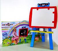 Детский 2-х сторонний мольберт, фото 1