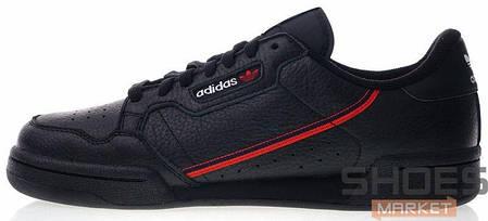 Женские кроссовки Adidas Continental 80 Core Black / Scarlet / Collegiate Navy G27707, Адидас Континентал, фото 2