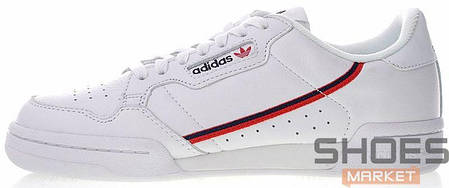 Мужские кроссовки Adidas Continental 80 Cloud White / Scarlet / Collegiate Navy F99787, Адидас Континентал, фото 2