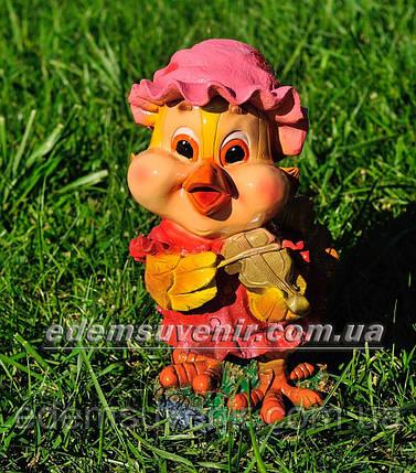 Садовая фигура Цыпа скрипач, фото 2