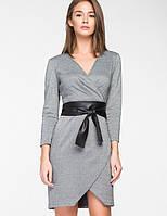 Женское трикотажное платье с имитацией запаха(5116 ie)