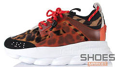 Женские кроссовки Versace X 2Chainz Chain Reaction 2 Leopard