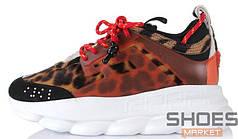Мужские кроссовки Versace X 2Chainz Chain Reaction 2 Leopard