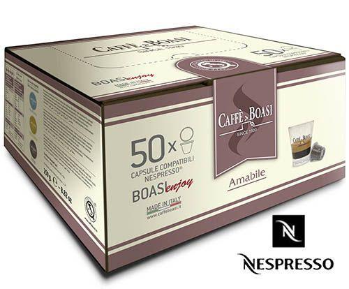 Кофе в капсулах Boasi Nespresso Amabile (50 шт.) (Неспрессо оригинал) 40% Арабика, Италия