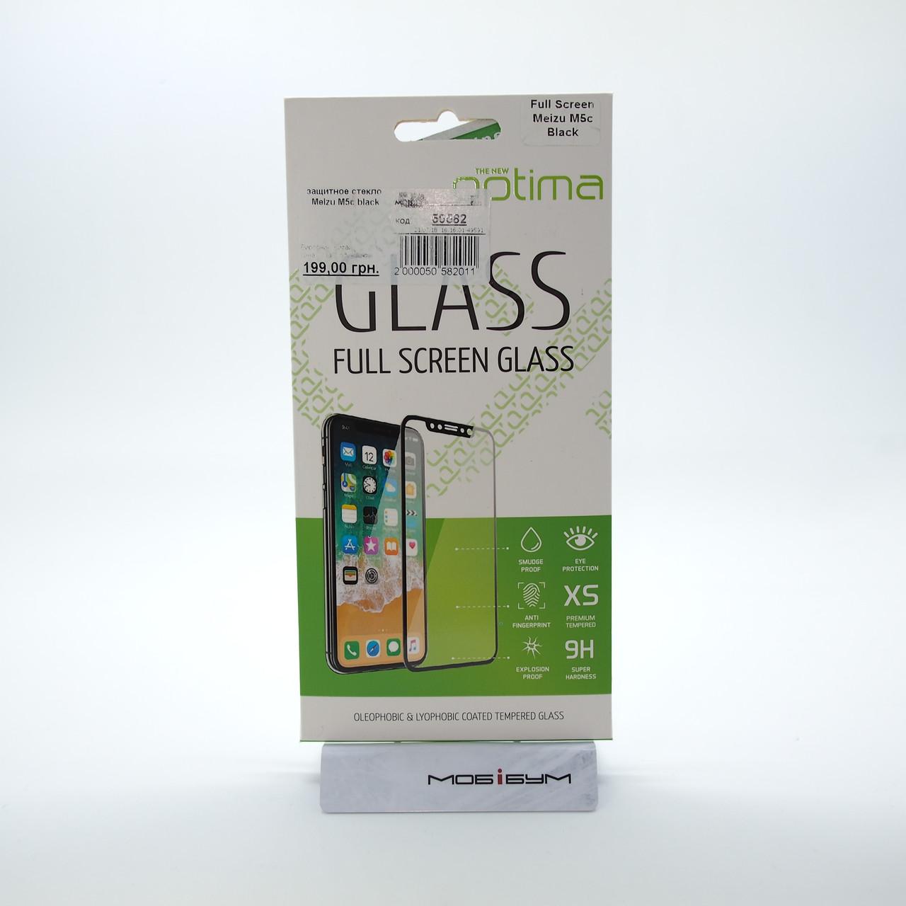 Защитное стекло Meizu M5c black Для телефона