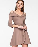 Женское платье с открытыми плечами и поясом(5118-5109-5996-5997ie)