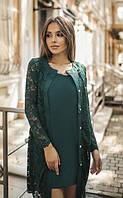 Женский батальный костюм: платье с кардиганом, размеры 42, 44, 46, 48. Разные цвета., фото 1