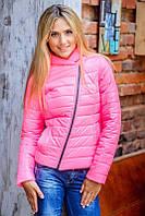 Женская куртка косуха розового цвета