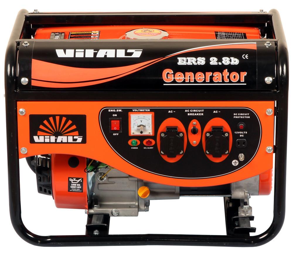 Генератор бензиновый Vitals ERS 2,8b (2,8 кВт, ручной стартер) Бесплатная доставка