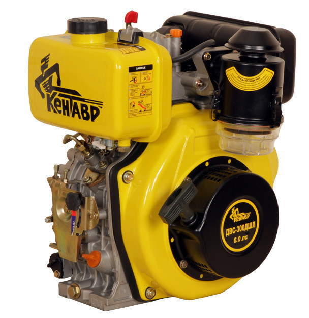 Дизельный двигатель Кентавр ДВЗ-300ДШЛ (6,0 л.с.,шлиц )