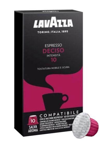 Nespresso капсулы Lavazza Deciso 10 (Неспрессо оригинал) 10 шт., Италия