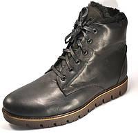 Зимние ботинки на натуральном меху мужская обувь Rosso Avangard Night Whisper Airon Black черные, фото 1