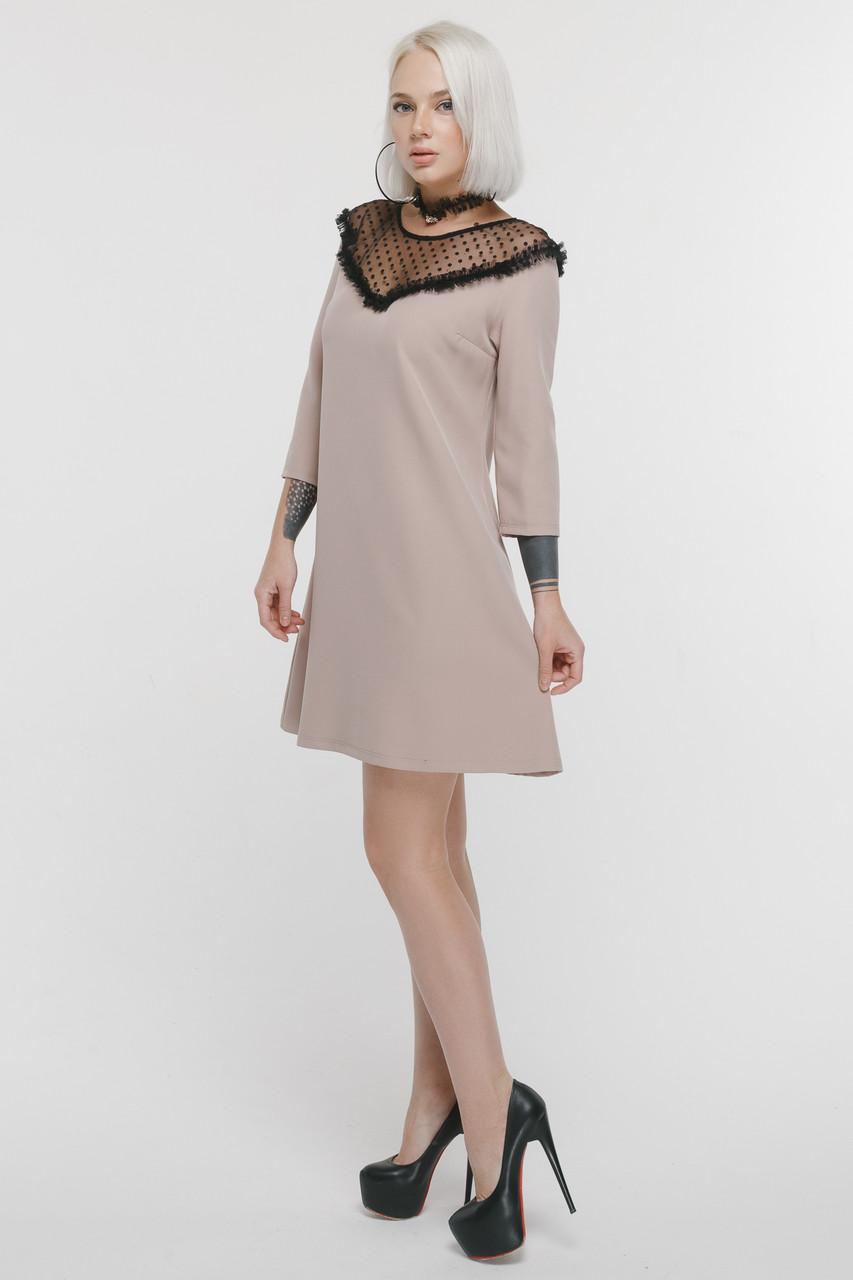 63eb4bd7a0ca285 Коктейльное платье А-силуэта с сеткой (5 цветов): продажа, цена в ...