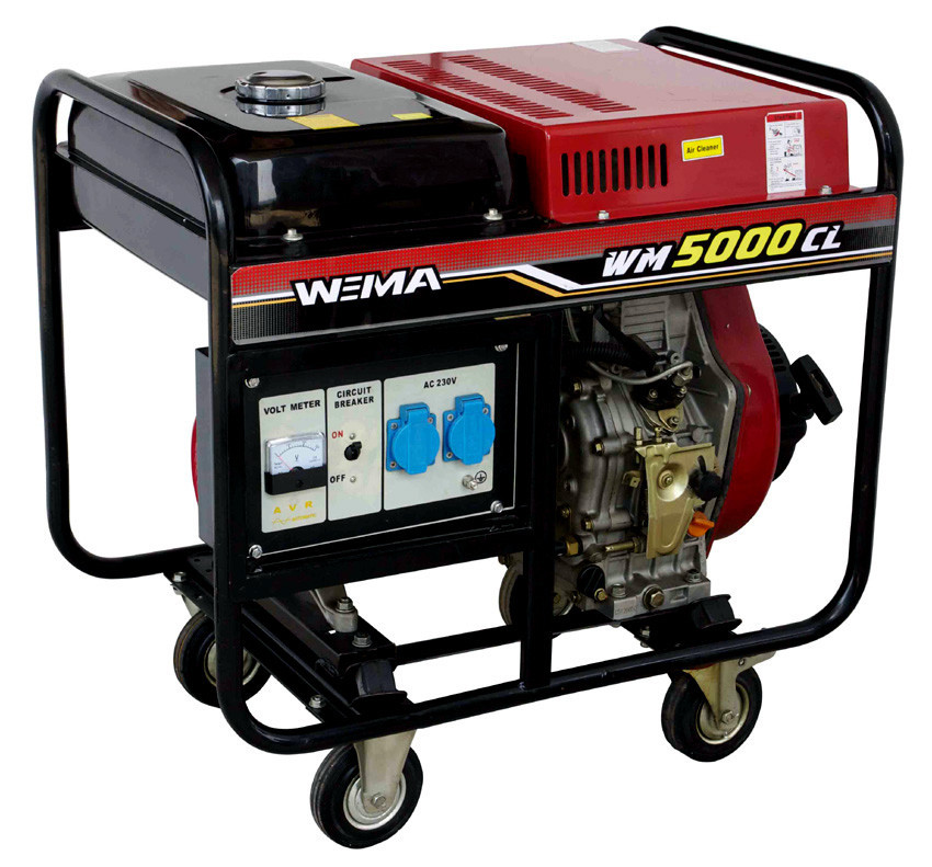 Генератор дизельный WEIMA WM5000CLE (5 кВт, 1 фаза) Бесплатная доставка
