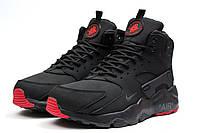 Зимние ботинки на меху в стиле Nike Air, черные . Код товара: KW - 30293