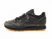 Мужские оригинальные кожаные кроссовки Reebok Leather Sherpa AR3505 цвет: чёрный
