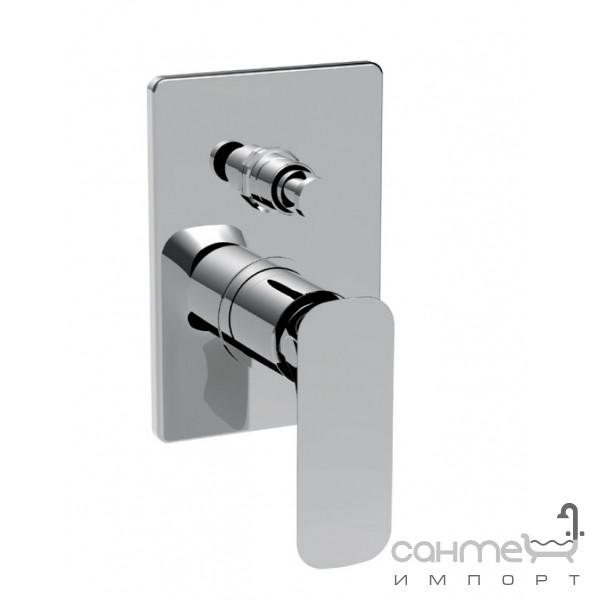 Смесители La Torre Встраиваемый смеситель для ванны/душа с переключателем на два положения La Torre Laghi 44050 R Биколор