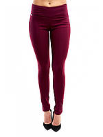 Стильные джинсовые облегающие брюки цвета марсала  42-48, фото 1