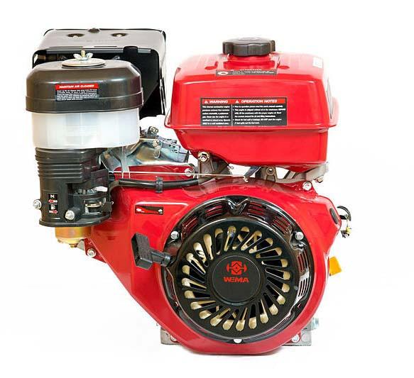 Двигатель бензиновый WEIMA WM177F-T  (9,0 л.с., шлицы Ø25мм, L=36,5мм)+доставка