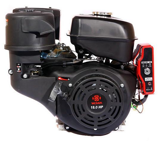 Двигатель бензиновый WEIMA WM192F-S NEW (18 л.с., шпонка Ø25мм, L=60мм, ручной старт) +доставка