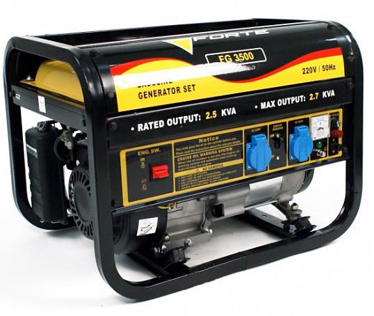 Генератор бензиновый Forte FG3500Е (2.5 кВт, электростартер) Бесплатная доставка