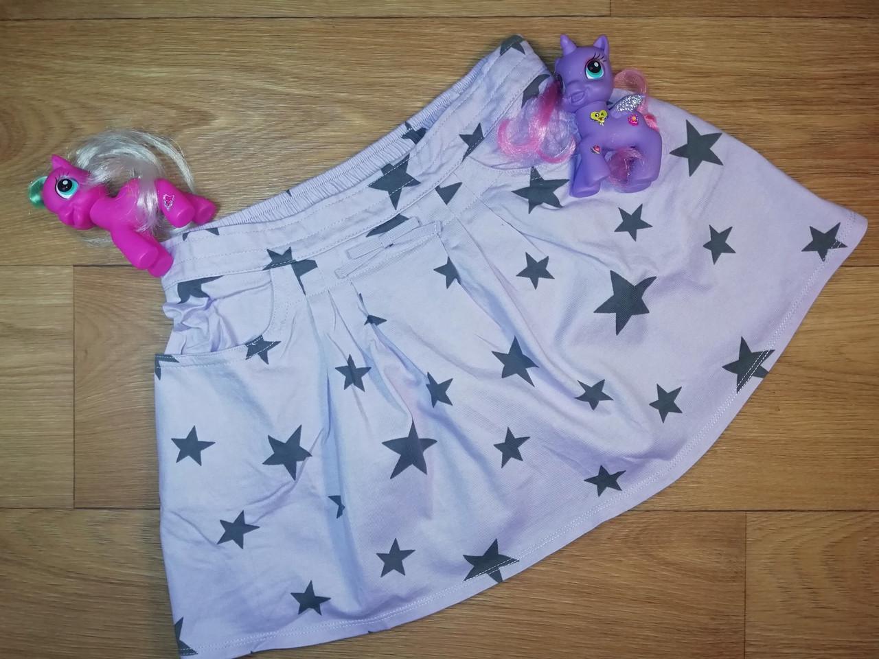 Трикотажная  сиреневая юбочка в звездочку с карманами (Размер 7-8Т) Crazy8 (США)