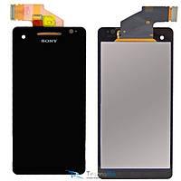 Модуль - дисплей Sony LT26i/Xperia S с тачскрином и рамкой, оригинал, чёрный