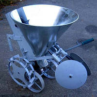 Картоплесаджалка ланцюгова ТМ Ярило (30 літрів, транспортувальні колеса, бункер для добрив)