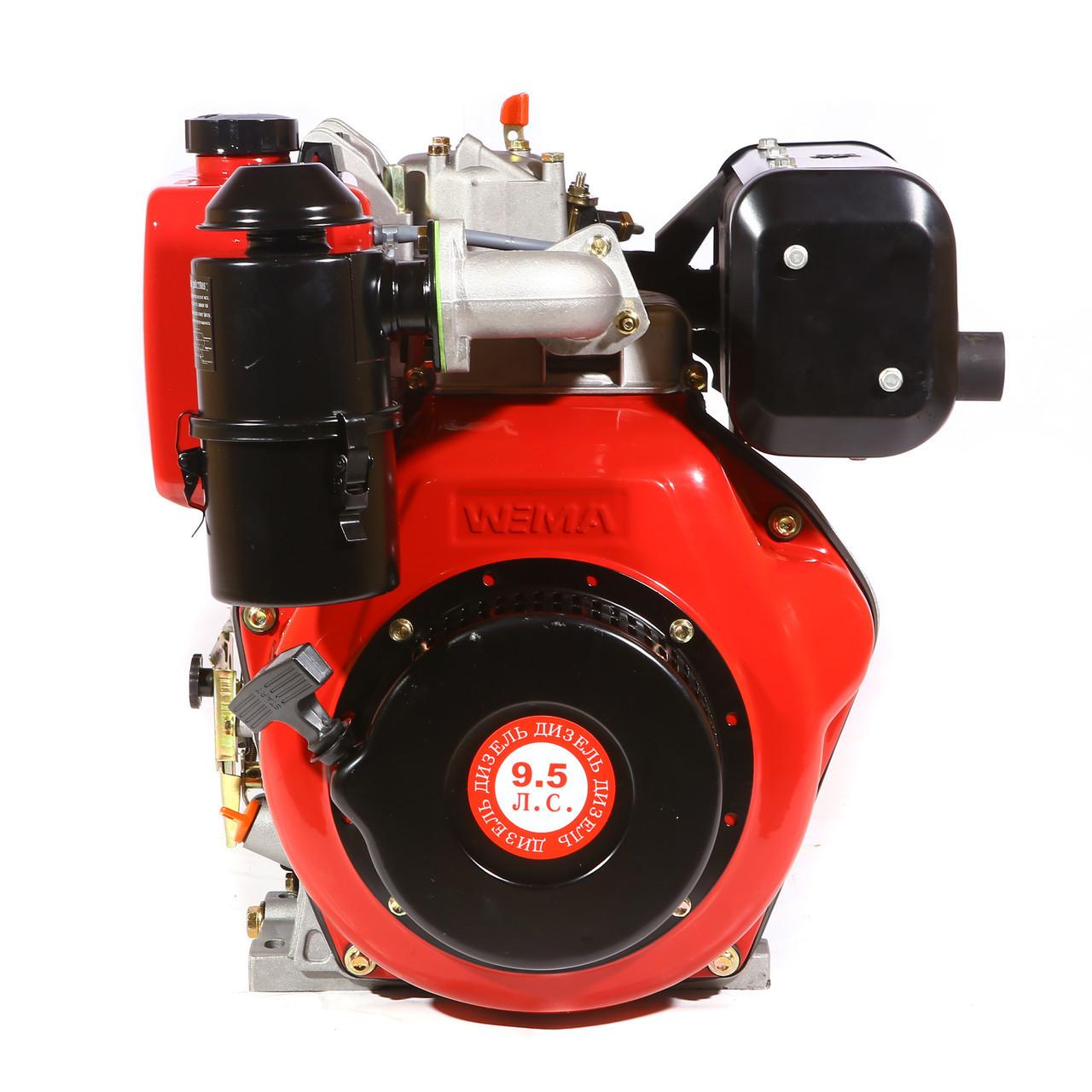 Двигатель дизельный WEIMA WM186FВ (9,5 л.с., шпонка Ø25мм, L=60, ручной старт) + доставка