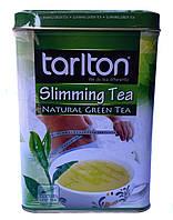 Чай оолонг зеленый с лепестками цветов Tarlton Slim 250 г в металлической банке